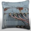Maxwell Dickson Weathered Metal Pipes Throw Pillow