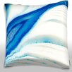 Maxwell Dickson Cross-section of Pattern of Ice in Layers Throw Pillow