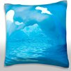 Maxwell Dickson Iceberg With Holes Throw Pillow