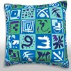 Maxwell Dickson Abstract Squares Throw Pillow