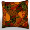 Maxwell Dickson Abstract Brown's Quilt Throw Pillow