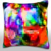 Maxwell Dickson Abstract Textured Illustration Throw Pillow