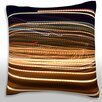 Maxwell Dickson Abstract Streaks of Light Throw Pillow