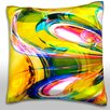 Maxwell Dickson Multi-Colored Swirl Throw Pillow