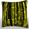 Maxwell Dickson Abstract Vertical Pattern of Gold Bars Throw Pillow