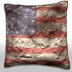 Maxwell Dickson Abstract American Flag Throw Pillow