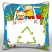 Maxwell Dickson Children in Vegetable Bag Throw Pillow