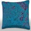 Maxwell Dickson 'Los Angeles, California, Satellite' Throw Pillow