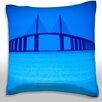Maxwell Dickson Sunshine Sky Way Bridge Throw Pillow
