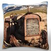 Maxwell Dickson JunkTtractor in Rural Landscape Throw Pillow