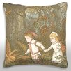 Maxwell Dickson Illustration Depicting Fairy Tale Throw Pillow