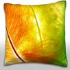 Maxwell Dickson Colorful Feathers Close-Up Throw Pillow