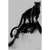 "Maxwell Dickson ""Black Cat"" Painting Prints on Canvas"