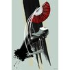 Maxwell Dickson 'Fan Dancer' Graphic Art on Wrapped Canvas