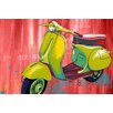 "Maxwell Dickson ""Vintage Scooter"" Graphic Art on Canvas"