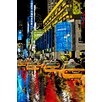 Maxwell Dickson 'Rainy Nights' Times Square New York Graphic Art on Wrapped Canvas