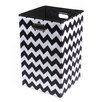 Modern Littles Bold Chevron Folding Laundry Basket