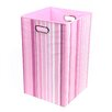 Modern Littles Rose Stripes Folding Laundry Basket
