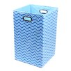 Modern Littles Sky Zig Zag Folding Laundry Basket