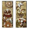 <strong>Elico LTD</strong> Owls Hoot Cutout 2 Piece Graphic Art Plaque Set