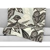 KESS InHouse Java Leaf Microfiber Fleece Throw Blanket