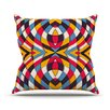 KESS InHouse Stained Glass Throw Pillow