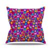 KESS InHouse My Colourful Circles by Julia Grifol Throw Pillow
