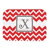 KESS InHouse Monogram Chevron Red Placemat