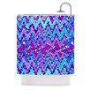 KESS InHouse Electric Chevron Shower Curtain