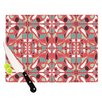 KESS InHouse Stained Glass Pink Cutting Board