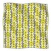 KESS InHouse Whirling Leaves Microfiber Fleece Throw Blanket