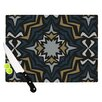 KESS InHouse Winter Fractals Cutting Board