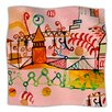 KESS InHouse Happy Town Microfiber Fleece Throw Blanket