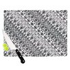 KESS InHouse Silver Lace Cutting Board