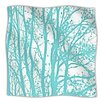 KESS InHouse Mint Trees Microfiber Fleece Throw Blanket