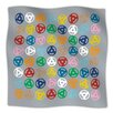 KESS InHouse Roll with It On Grey Microfiber Fleece Throw Blanket