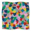 KESS InHouse More Hearts Microfiber Fleece Throw Blanket