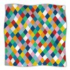 KESS InHouse Harlequin Zoom Microfiber Fleece Throw Blanket