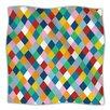KESS InHouse Harlequin Zoom Microfiber Fleece Throw Blanket