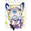 KESS InHouse Niko by Rebecca Fischer French Bulldog Cutting Board