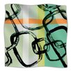 KESS InHouse Sixties Stripe Microfiber Fleece Throw Blanket