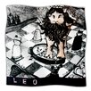 KESS InHouse King Leo Microfiber Fleece Throw Blanket