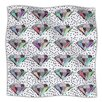 KESS InHouse Polka Dot Diamond Microfiber Fleece Throw Blanket