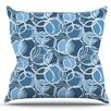 KESS InHouse Simple Circles by Julia Grifol Throw Pillow