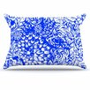 KESS InHouse Bloom Blue for You Pillowcase