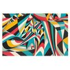KESS InHouse Don't Come Close by Danny Ivan Abstract Decorative Doormat
