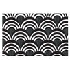 KESS InHouse Art Deco Black by Nicole Ketchum Decorative Doormat