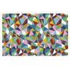 KESS InHouse Abstraction by Project M Rainbow Abstract Decorative Doormat