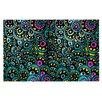 KESS InHouse Peacock Tail by Pom Graphic Design Decorative Doormat