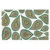 KESS InHouse Its Raining Leaves by Pom Graphic Design Decorative Doormat